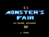 Monster's Fair - Title Screen