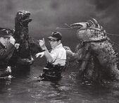 Godzilla vs Ebirah Behind Scenes