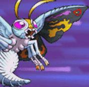 Gojira Godzilla Domination - Battle Sprites - Mothra