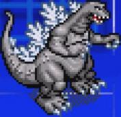 Gojira Kaiju Dairantou Advance - Character Sprites - Godzilla