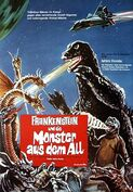 Destroy All Monsters German Poster