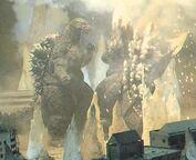 Godzilla Fighting SpaceGodzilla