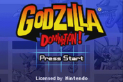 Gojira Godzilla Domination - Title Screen
