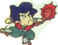 Goemon with his pipe