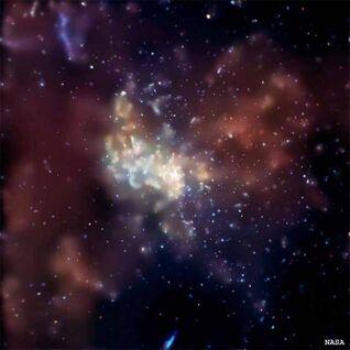 Center milkway galaxy