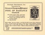 Pool of Radiance Cluebook Card