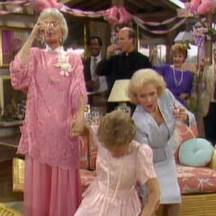 Dorothy squeezing Blanche's hand to death.