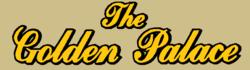 The Golden Palace gold large script logo