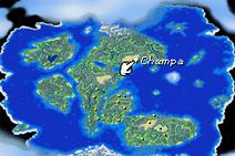 Champa-Weltkarte-Zeiger
