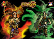 Old Golden Sun Wallpaper by xDizzyChanx