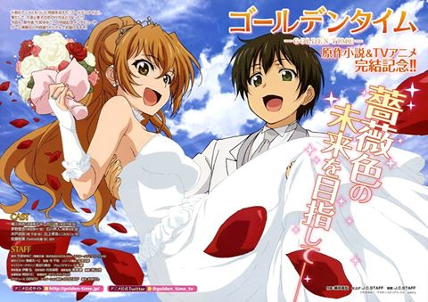 Golden time wedding pic