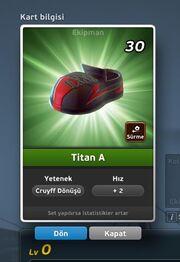 Titan A Krampon (Cruyff Dönüşü) Ön Yüz