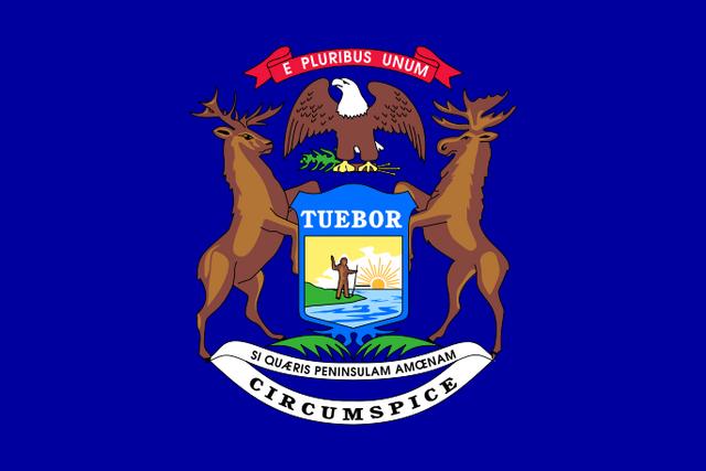 File:Flag of Michigan.png