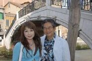 Go Nagai and Sumiko strolling in Venice, Italy (2007)