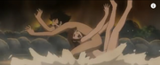 Sayaka yumi and koji kabuto mazinger edition z hot spring clash