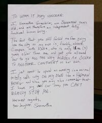 Sternly-worded letter