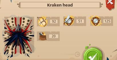 Krakken head