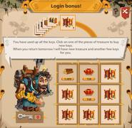 Icebob opened login screen level 7