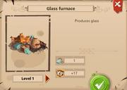 Glass furnace level 1