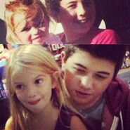 Mia Talerico with Bradley Steven Perry