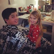 Bradley Steven Perry with Mia