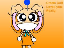Cream dolll