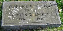 Florence (Goodwin) Beckett (1886-1940)