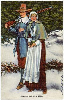 Alden (Mullins), Priscilla (Postcard)