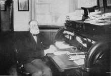 James Talcott at desk