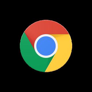 The new Google Chrome logo since 2015.