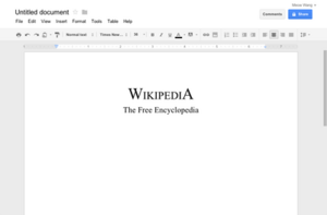 Google Docs - example document