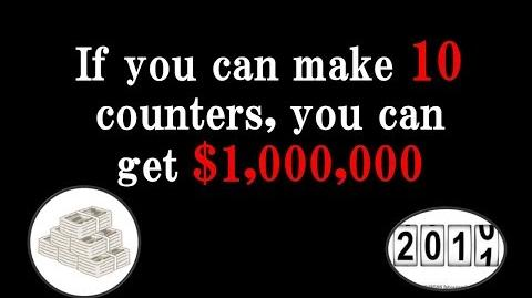 If you can make 10 counters, you can get $1,000,000