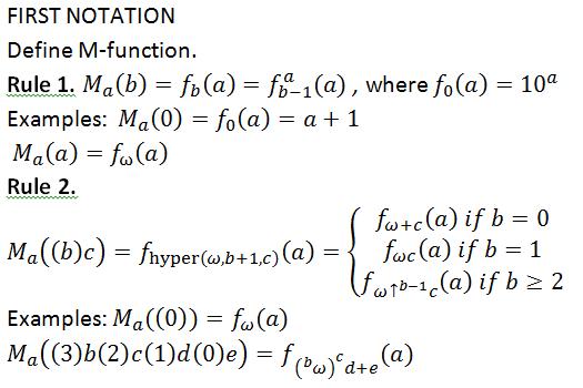 First notation