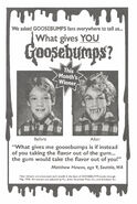 What Gives You Goosebumps contest winner in orig series 31 1stpr May 1995