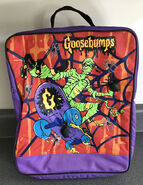 Goosebumps Mummy skateboard purple 90s backpack