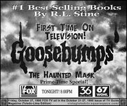 Haunted Mask 1st time on TV Oct 27 1995 TVGuide ad