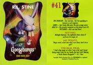 Goosebumps 41 Bad Hare Day trading card front and back