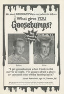 What Gives You Goosebumps contest winner in orig series 29 1stpr March 1995