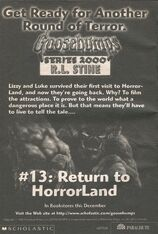 S2000 13 Return to Horrorland bookad from s2000 12