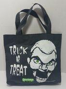 Slappy Trick or Treat B&W vinyl Pyramid tote bag
