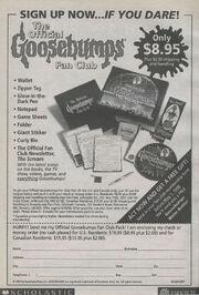 Goosebumps Fan Club circa 1998 from GYG 24 1stpr