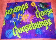 You Cant Scare Me splats bugs purple pillowcase