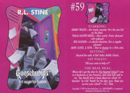 Goosebumps 59 Haunted School trading card front and back