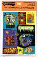 Goosebumps Hallmark 1995 stickers Beware