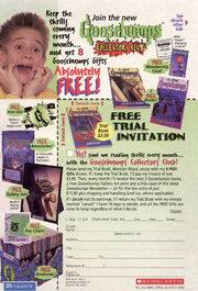Goosebumps Collectors Club exp Dec 31 1998 from OS 59-62 sch ed