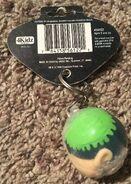 Gurglin Goosebumps Slappy keychain with tag 4Kidz back