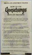 Goosebumps Logo Iron-on transfer back