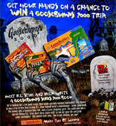 Goosebumps Series 2000 lunchables print ad