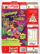 Kelloggs Froot Loops 1997 box back with 4 GB stickers ad