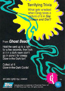 22 Ghost Beach Glow in Dark Topps Trading Card G5 back